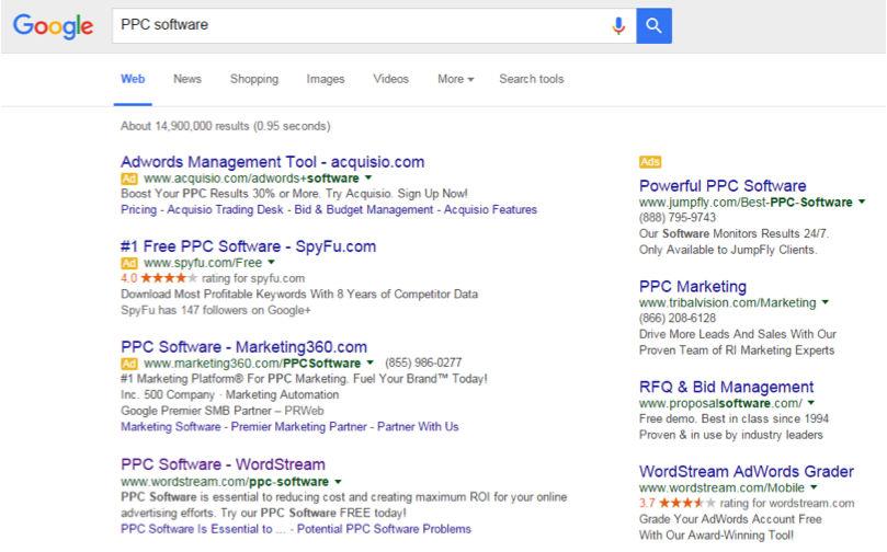 pagina de resultados de busqueda de google